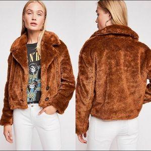 Free People Mena fur coat
